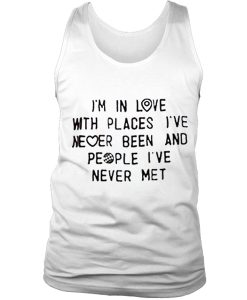 I'm in love tank top