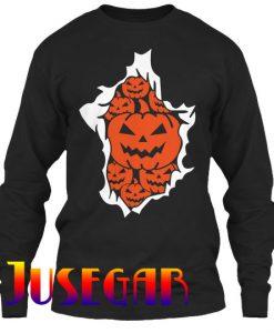 Halloween Pumpkins Burst Sweatshirt