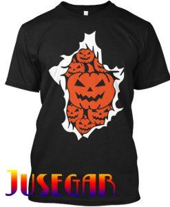 Halloween Pumpkins Burst T Shirt