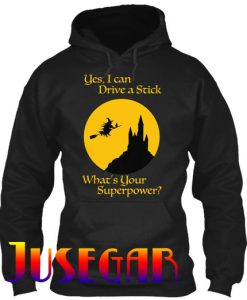 I Drive A Stick Halloween Superpower Hoodie
