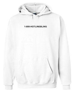 1800 hotlinebling hoodi putih