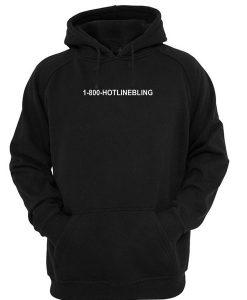 1800 hotlinebling hoodie black