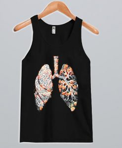 A lung made of flowers Tank Top