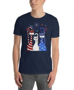 4th Of July Cat Red White Blue Cats Shirt