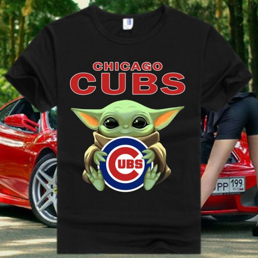 Chicago Cubs Baby Yoda Star Wars T Shirt