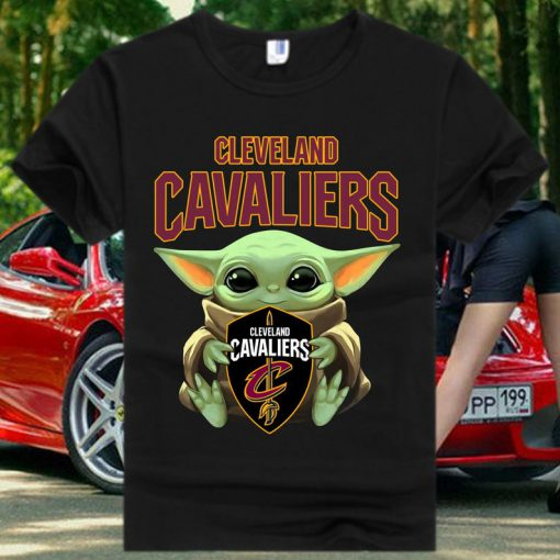 Cleveland Cavaliers Baby Yoda Star Wars T Shirt
