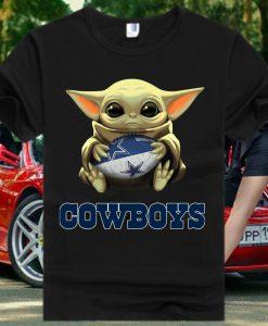Dallas Cowboys Baby Yoda Star Wars Tshirt
