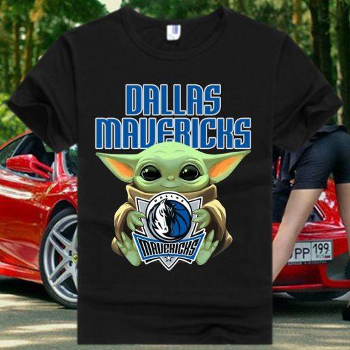 Dallas Mavericks Baby Yoda Star Wars T Shirt
