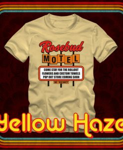 ROSEBUD MOTEL Rollout Pop Out Store No Vacancy T-shirt